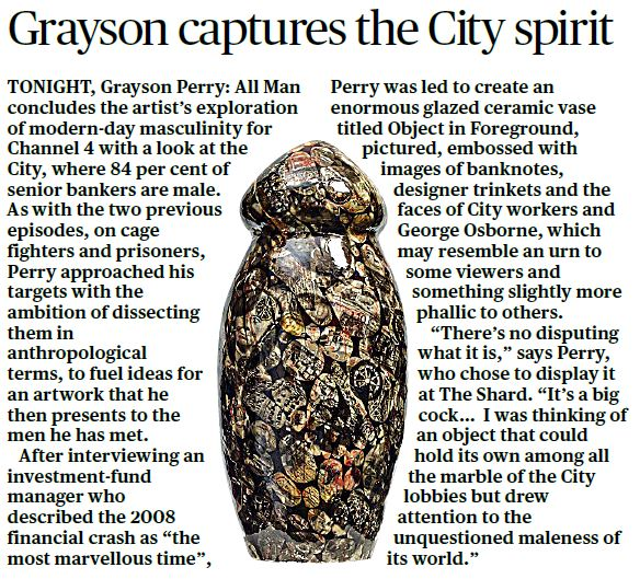 Grayson Perry, Evening Standard