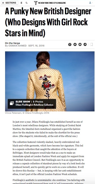 Dilara Findikoglu, T New York Times Style