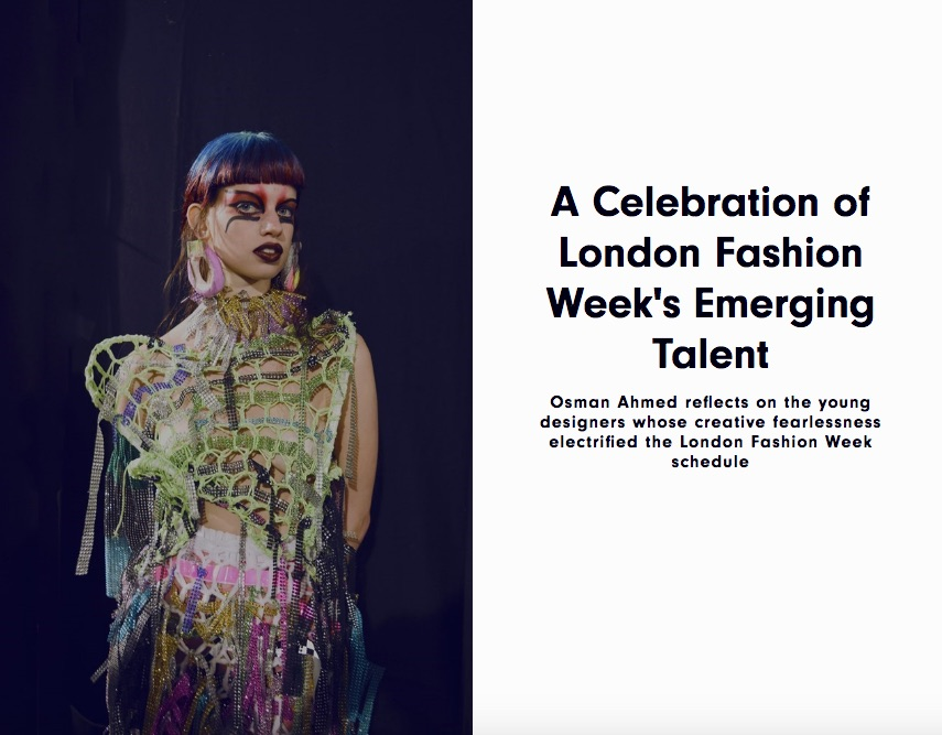Celebrating LFW's Emerging Talent, AnOther