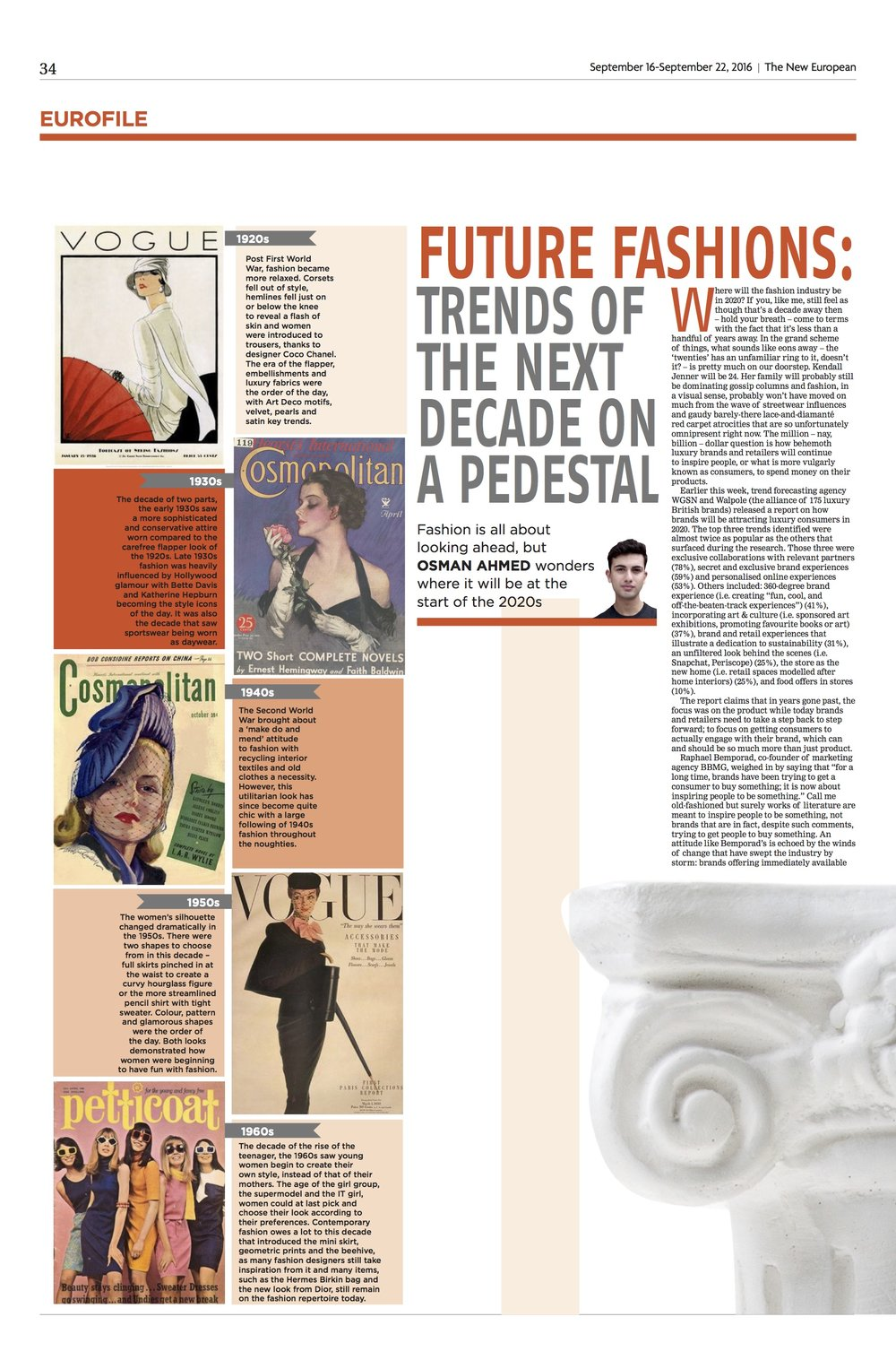 Fashion Column: 2020, The New European