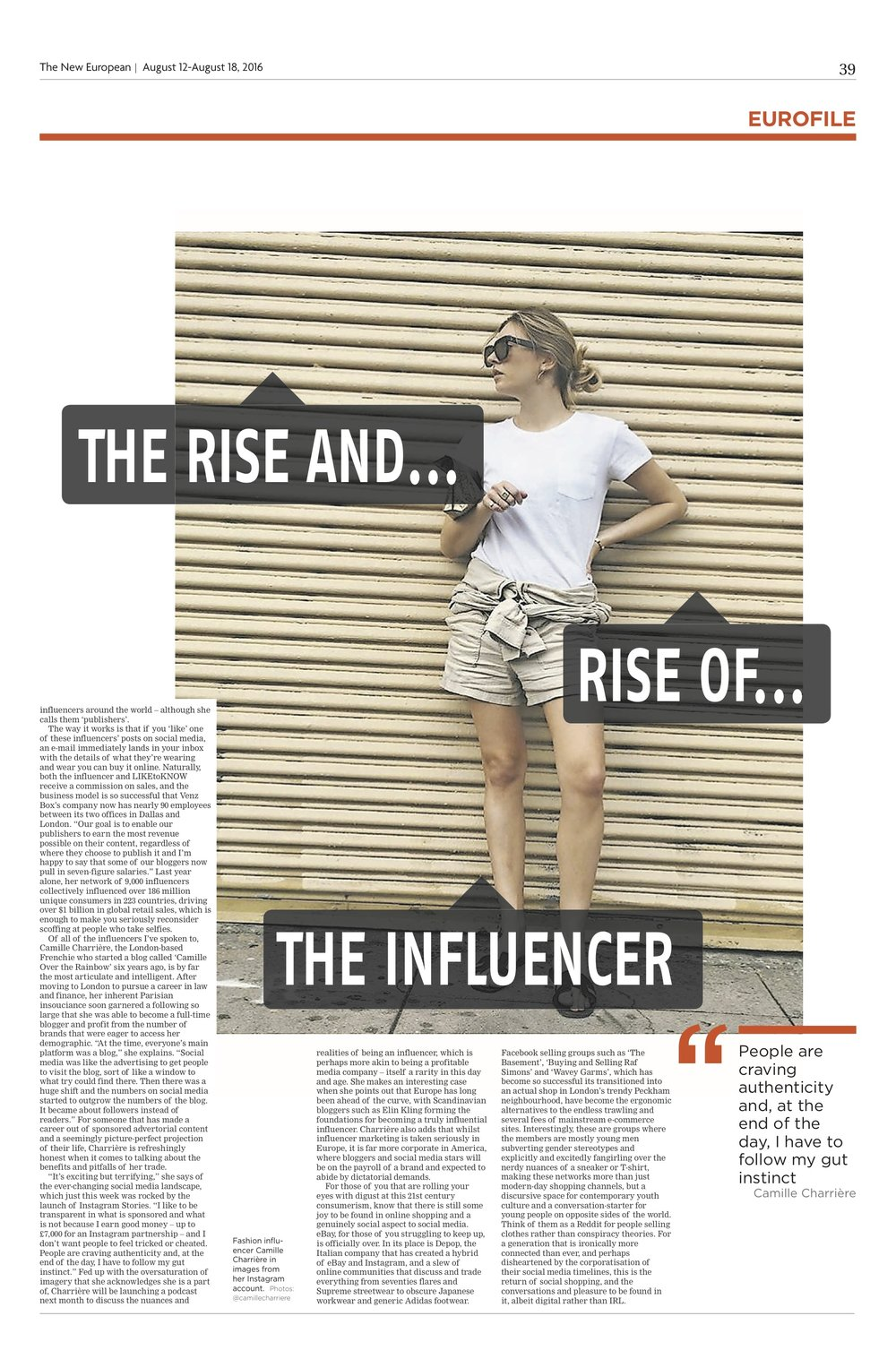 THE RISE OF THE INFLUENCER