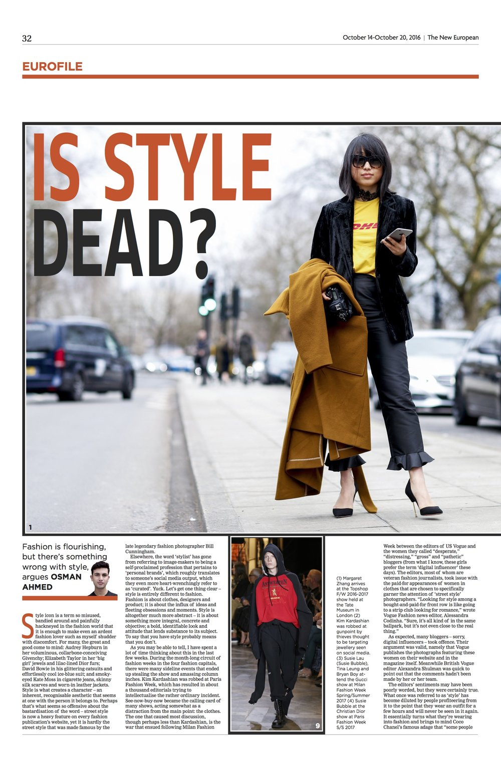 IS STYLE DEAD?