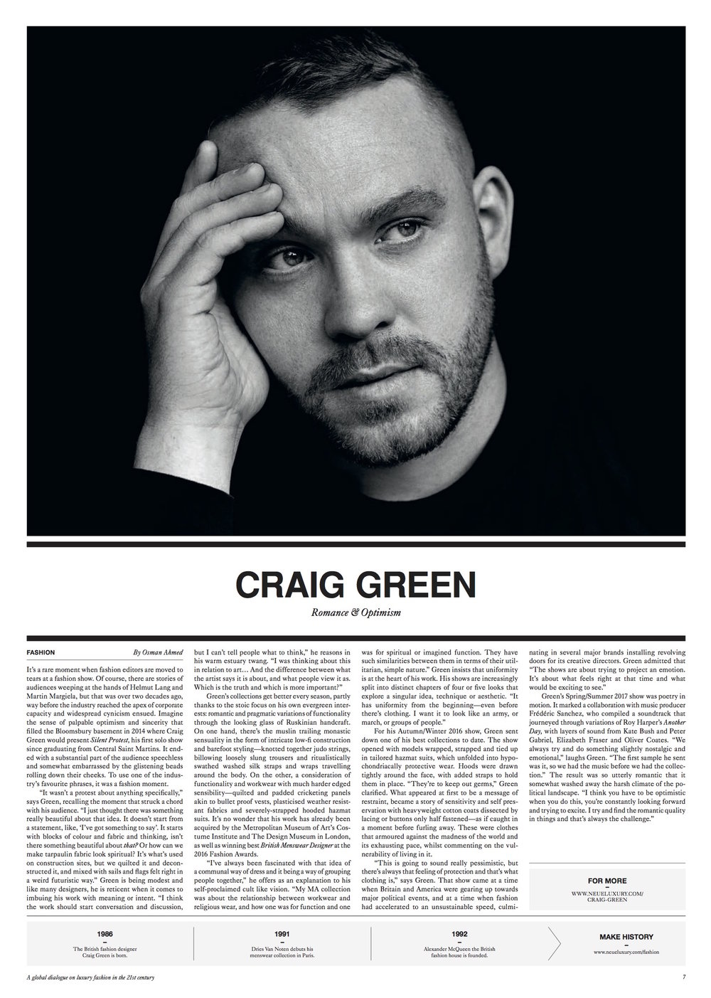 Craig Green profile