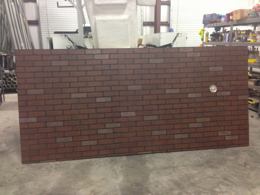 Faux brick before