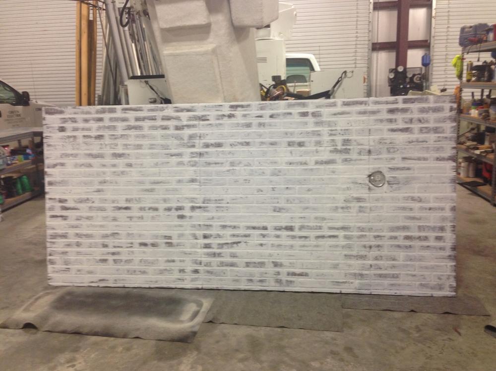 faux brick whitewash