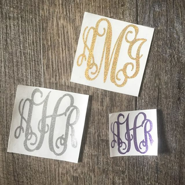 Who wants to see glitter decals in the September box? We have 9 glitter color options... ALSO two out of the three giveaways have not been claimed yet from monogrammonthly.com! If you signed up to win check your inbox!  I sent out the codes to for the winners to redeem yesterday so everyone should have them!