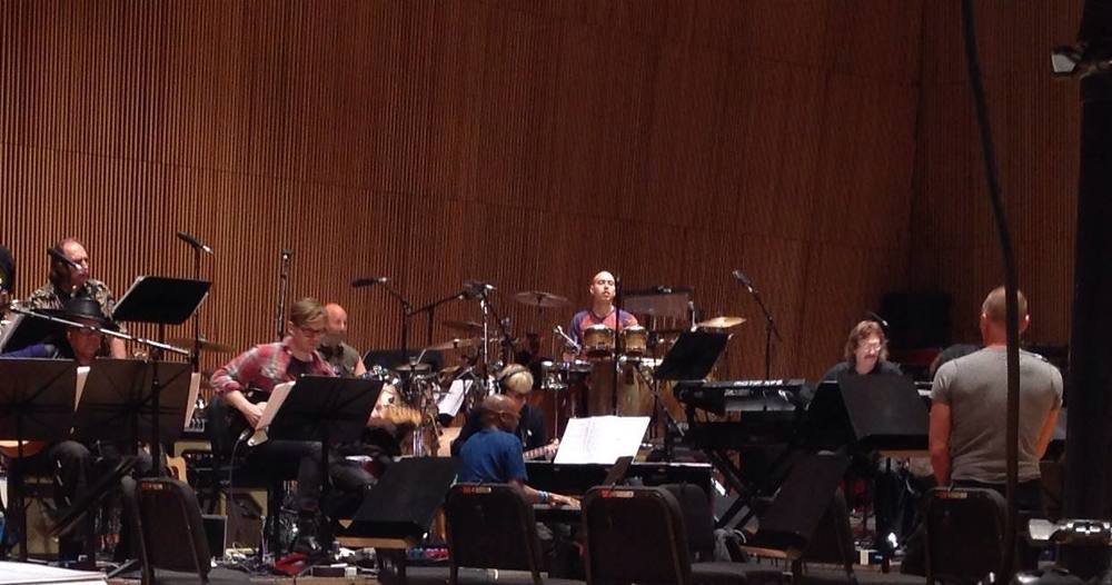 Rehearsal with Sting at the Dimenna Center April 2014