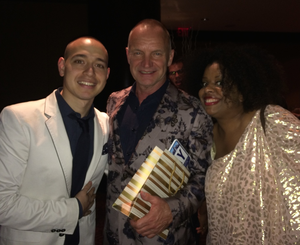 Post concert photo-op with Sting and Katreese Barnes!