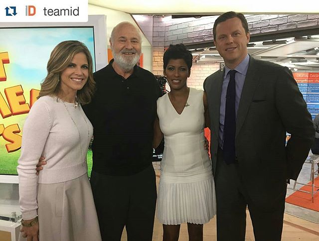 #Repost @teamid ・・・ #RobReiner stopped by @todayshow this morning to talk ID film client #BeingCharlie. Don't be a 'meathead' -- go see it in theaters on Friday, May 6!