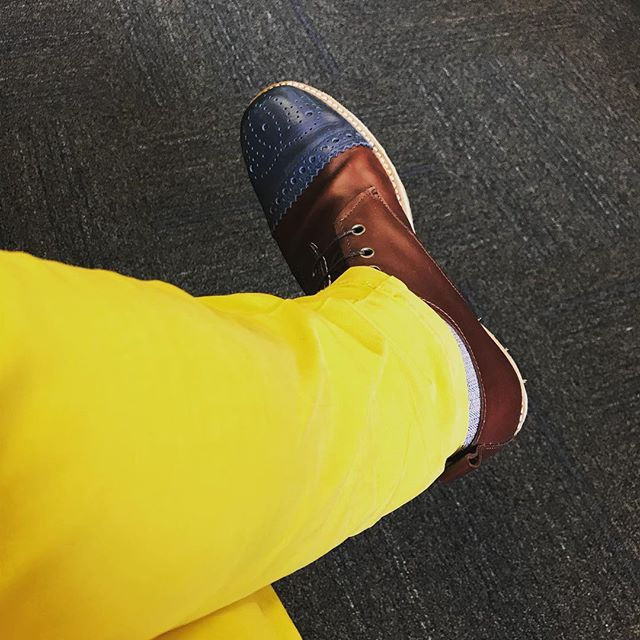 Yellow pants and boots I made myself #mensboots #mensfashion #mensstyle #menstyle