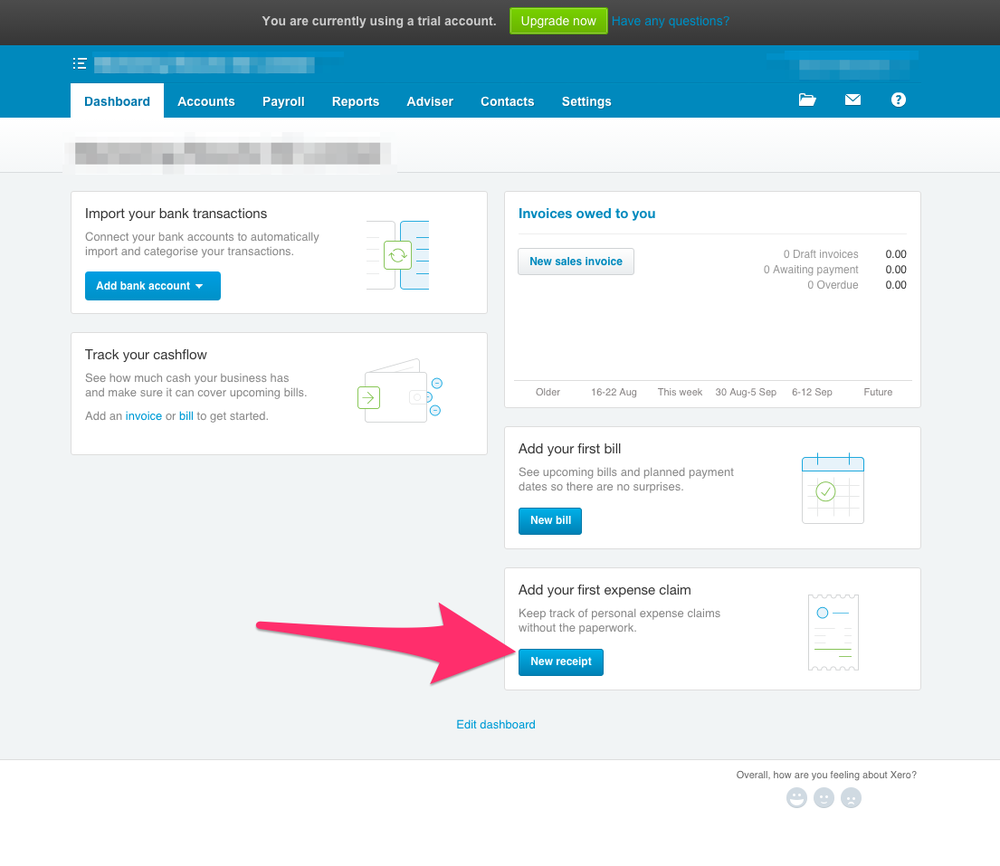how to set up a company in xero