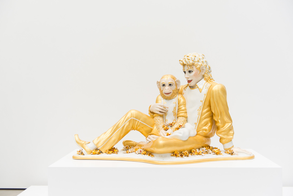 Jeff Koons - 'Michael Jackson and Bubbles'