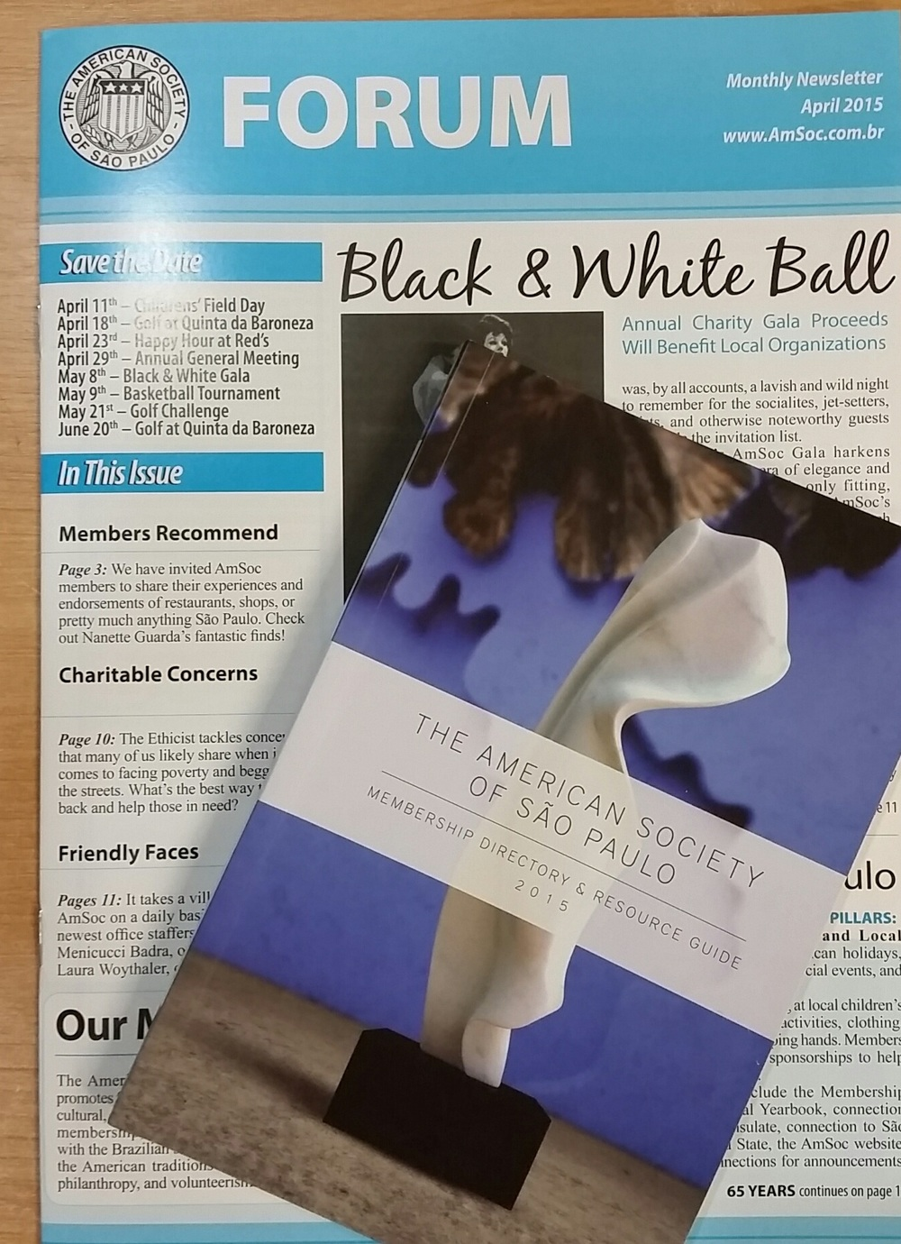 Picture of our 2015  FORUM Newsletter  and  Membership Directory & Resource Guide