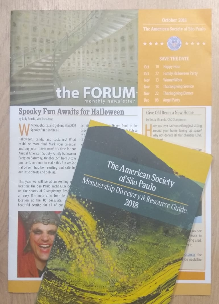 Picture of our 2018  FORUM Newsletter  and  Membership Directory & Resource Guide