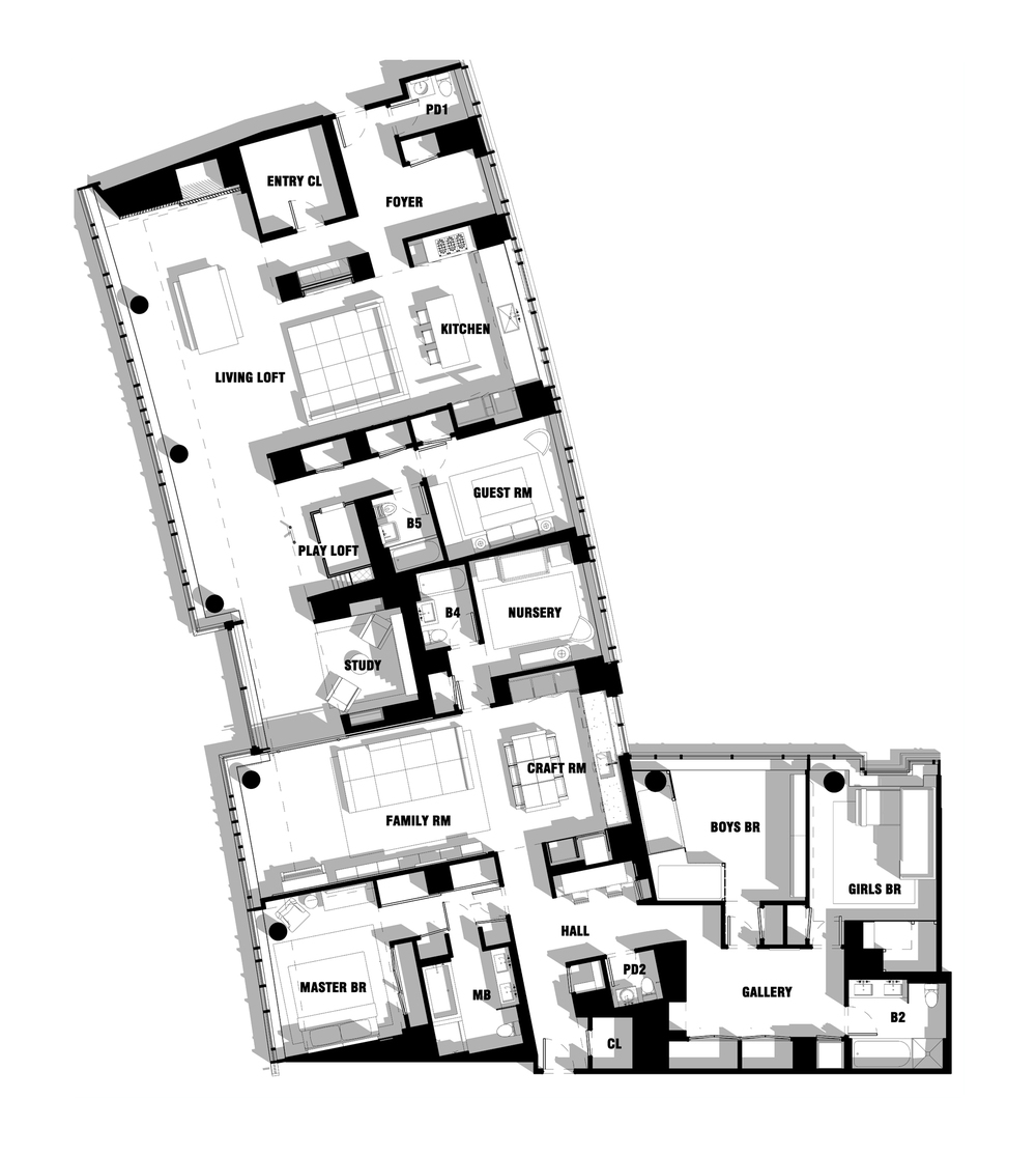 Bohemian Apartment Floor Plan