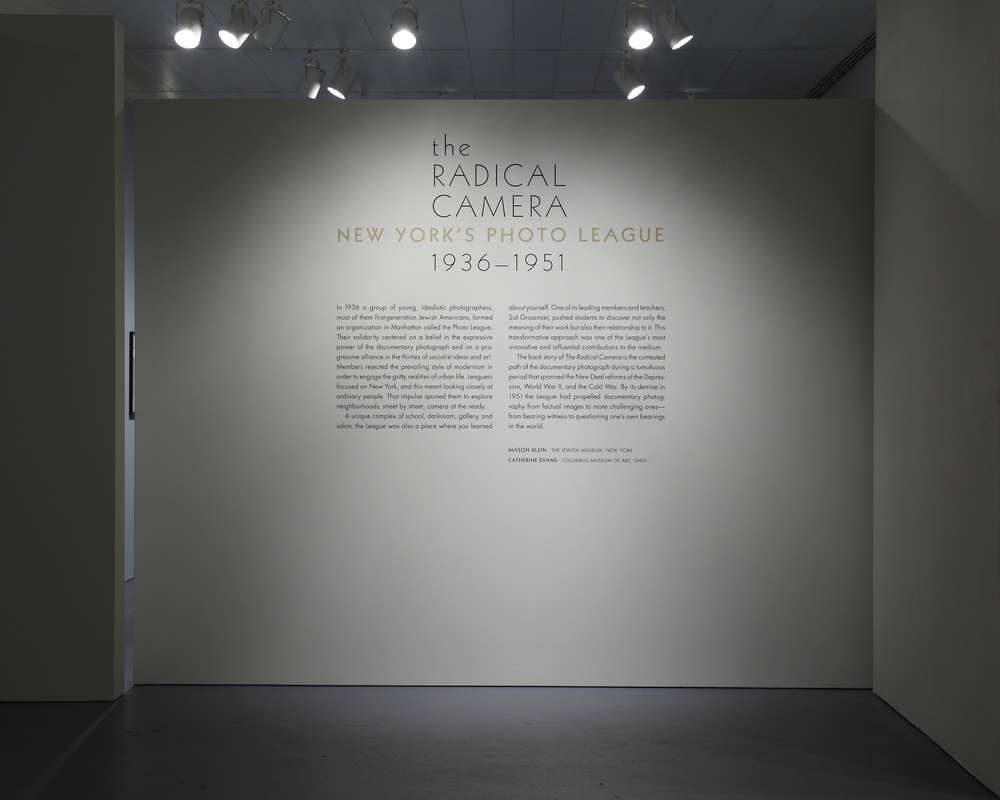 Jewish Museum Photo League Gallery Introduction Wall