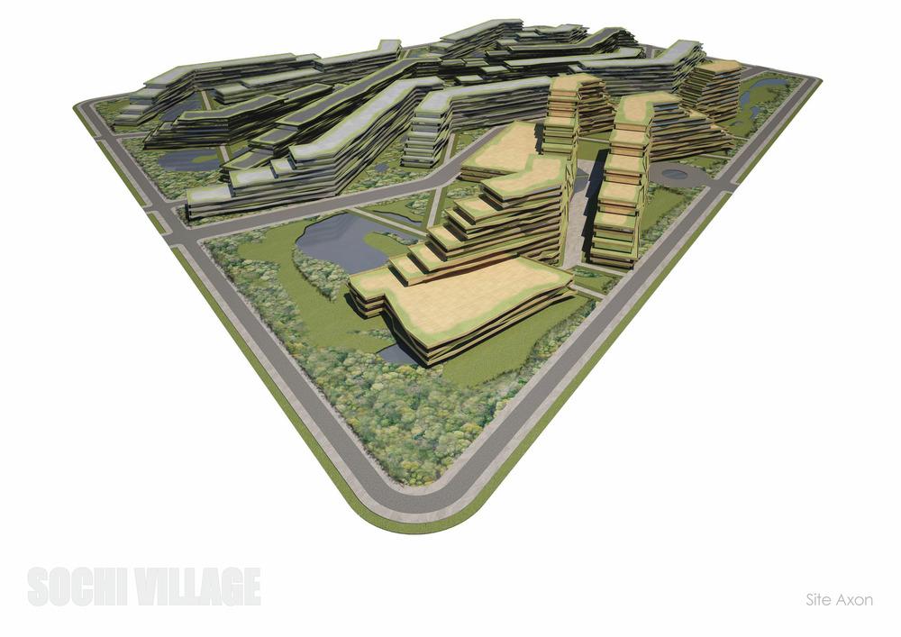 Sochi Olympic Village Site Axon