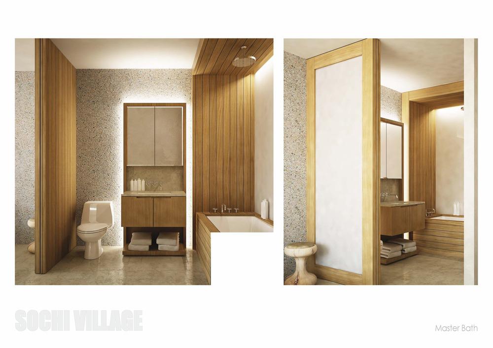 Sochi Olympic Village Master Bathroom Renderings