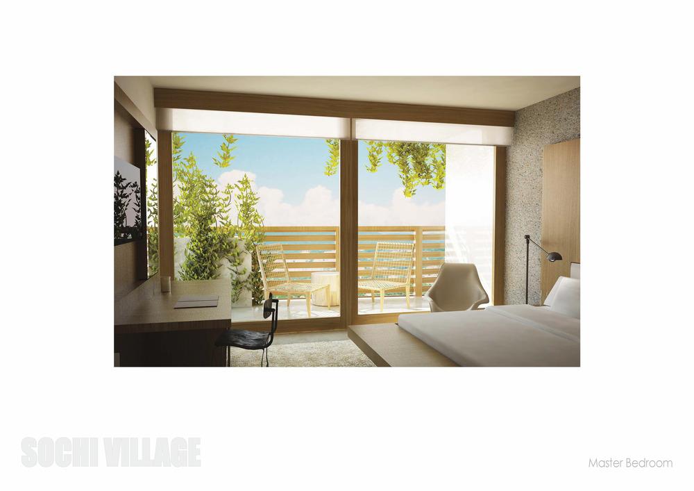 Sochi Olympic Village Master Bedroom Rendering
