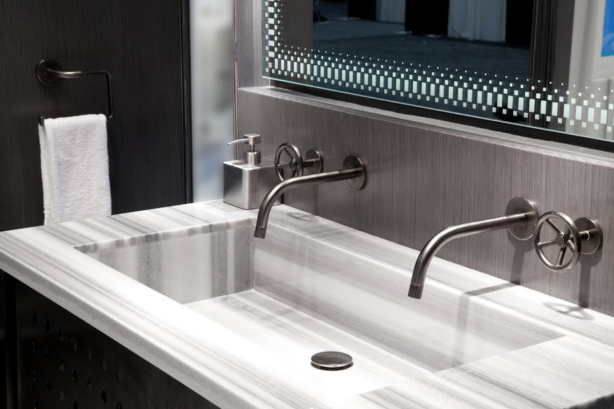 Hospitality Design Expo Booth Sink and Faucet Fixtures Close Up