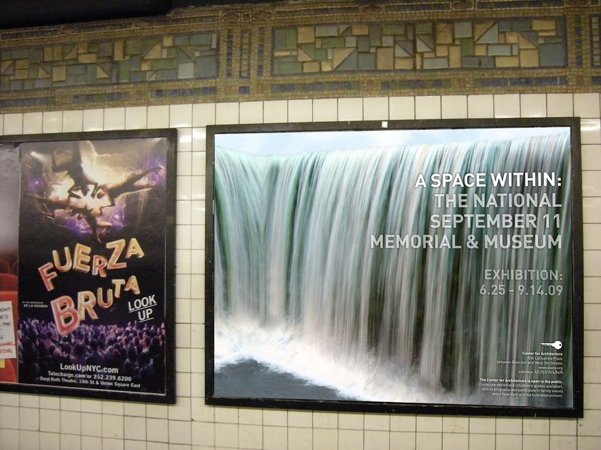 9/11 Memorial Exhibit Subway Poster