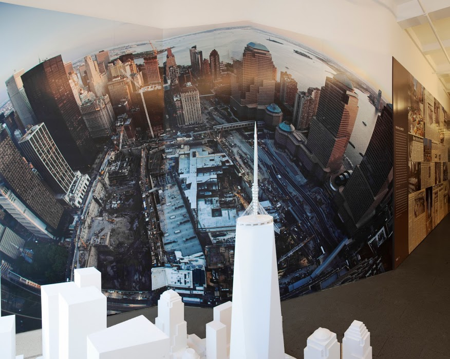 9/11 Memorial Exhibit Panorama Photo Wall and Model