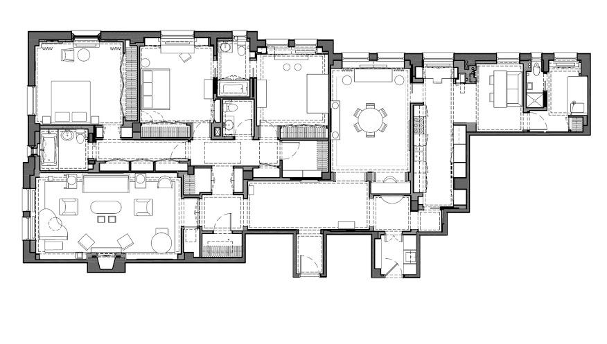 Adam Rolston, Gabriel Benroth, Drew Stuart, New York, NYC, apartment, floor plan