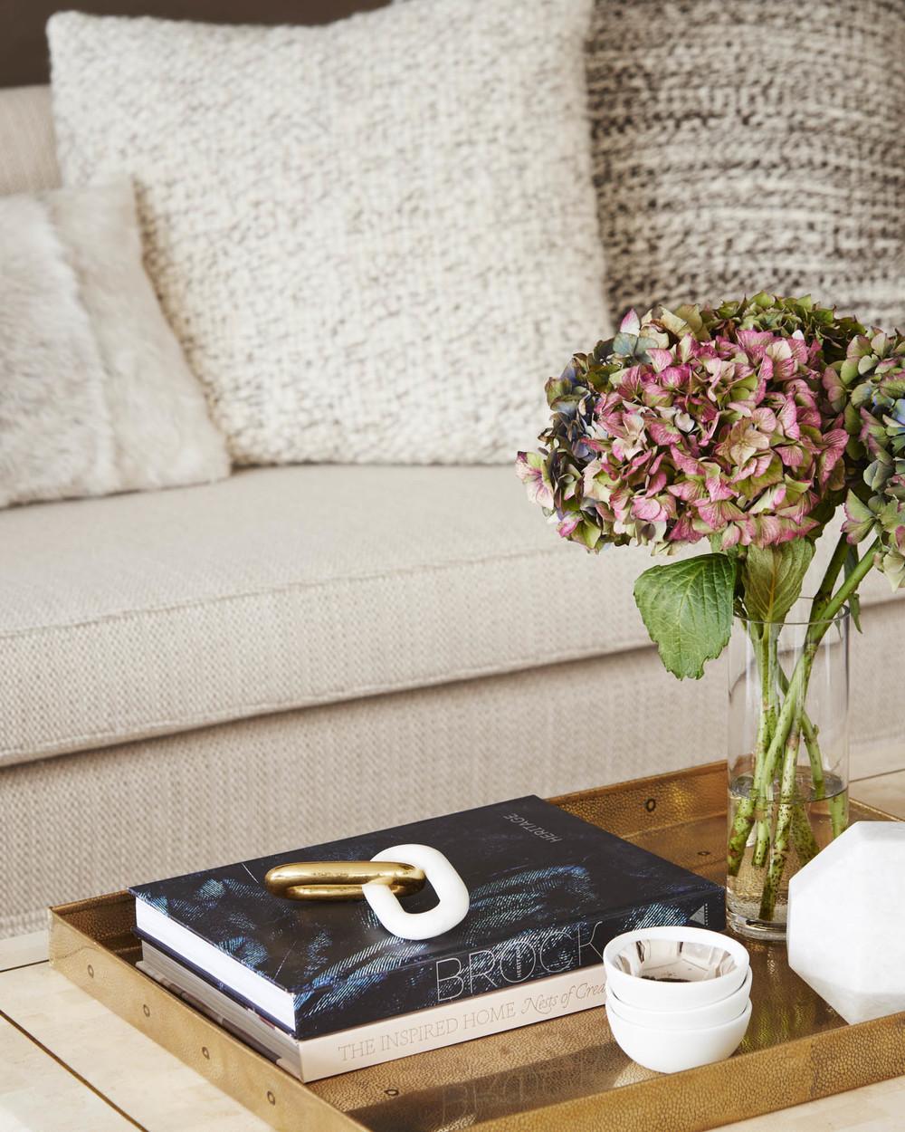 The Sutton Condominium Sales Office Coffee Table Detail