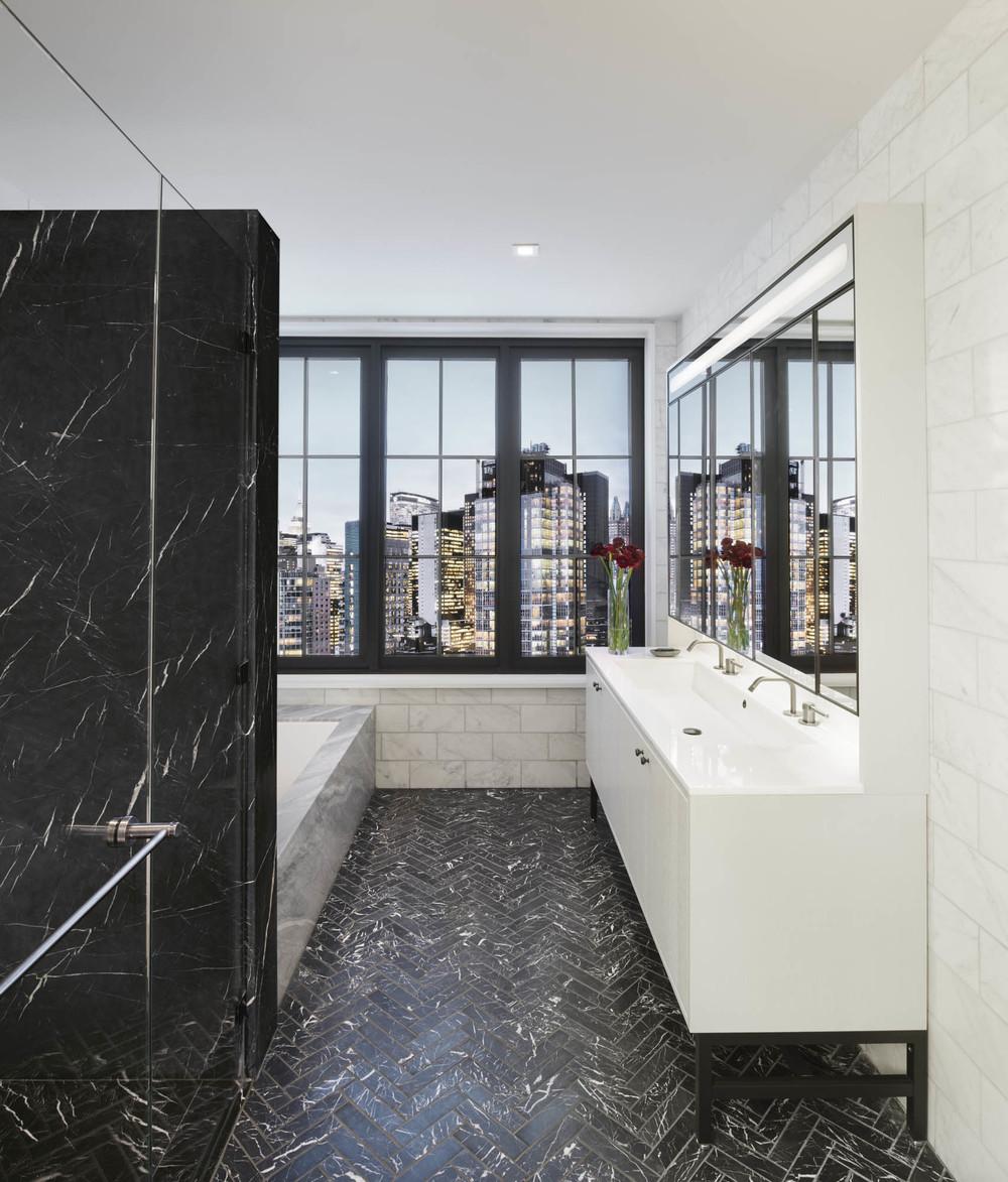 The Sutton Condominium Sales Office Master Bathroom