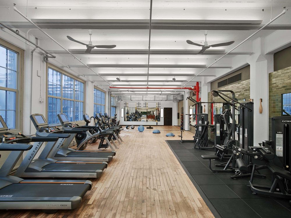 Industry City Athletic Club Cardio and Weight Machines