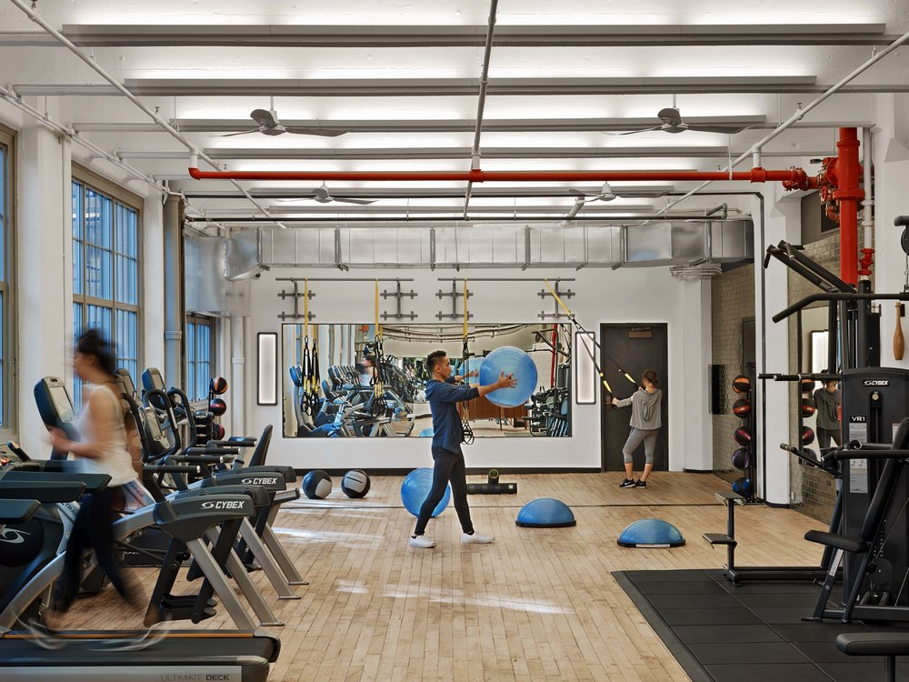 Industry City Athletic Club Open Fitness Area