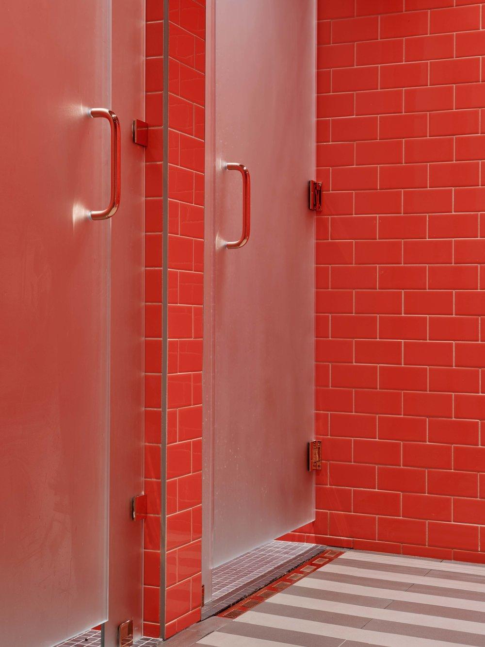 Industry City Athletic Club Locker Room Shower Detail