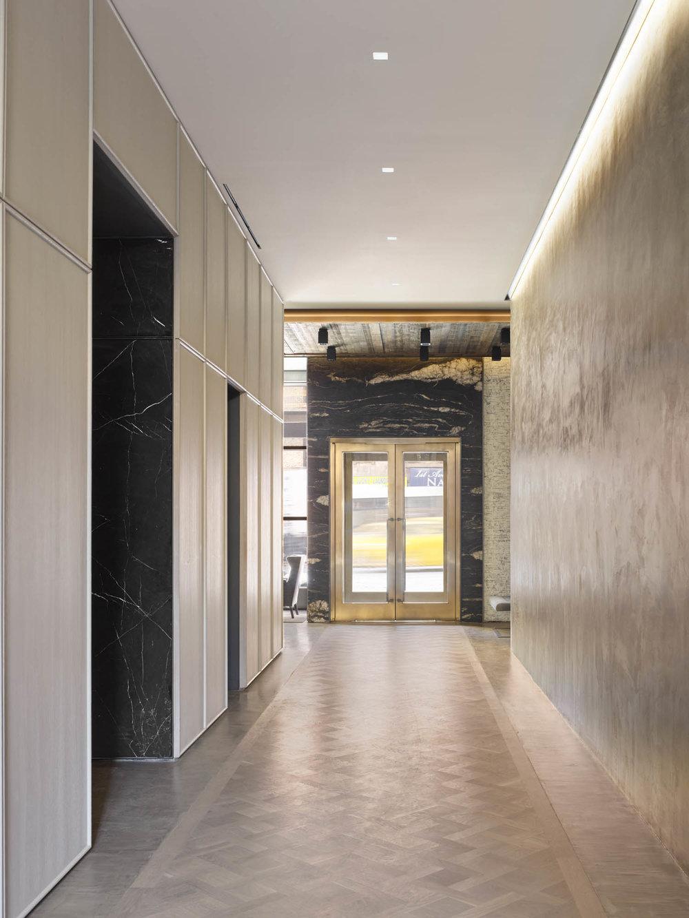 The Sutton Condominium Lobby Hallway