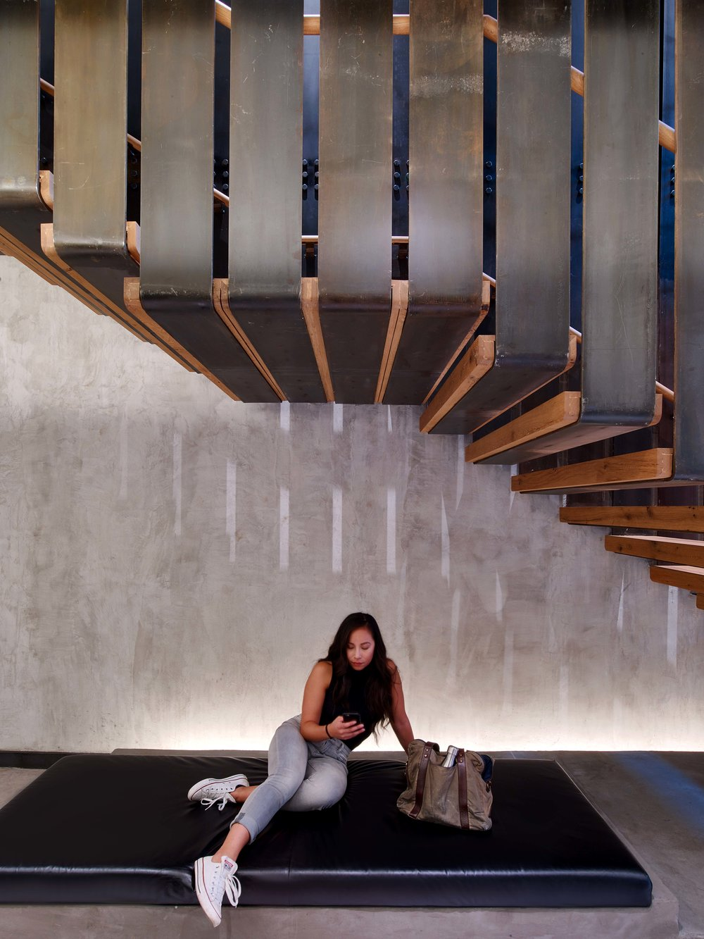 Equinox Dumbo Stairs and Bench with Woman