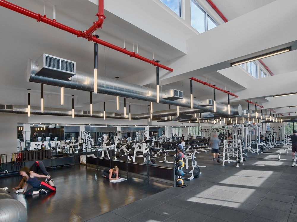 Equinox Williamsburg Stretching and Weight Areas