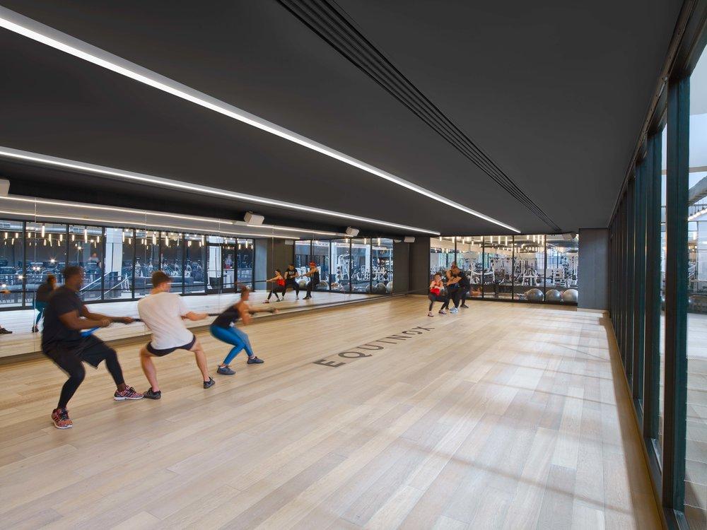 Equinox Williamsburg Fitness Studio Interior with People