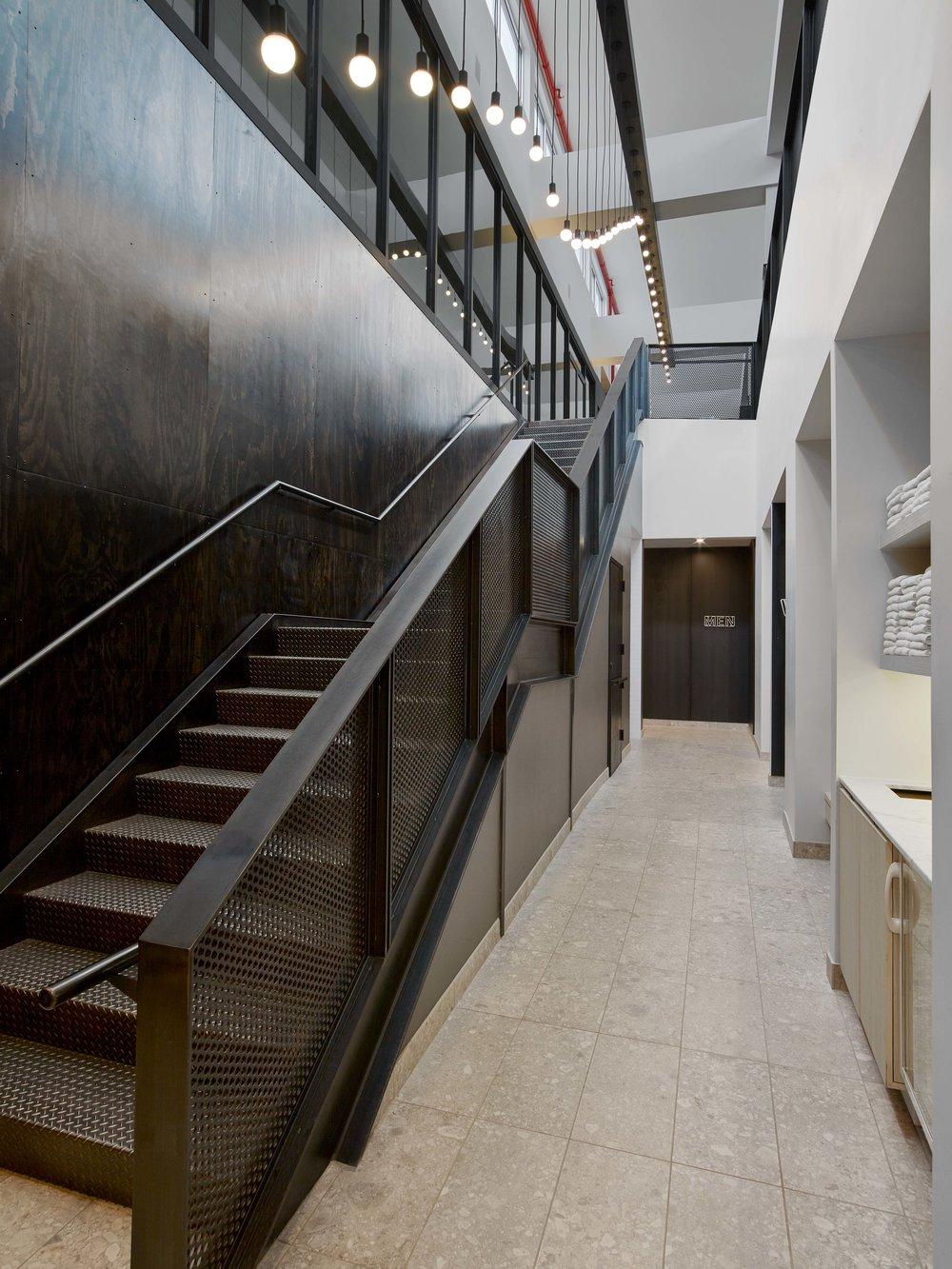 Equinox Williamsburg Back Stair to Locker Rooms