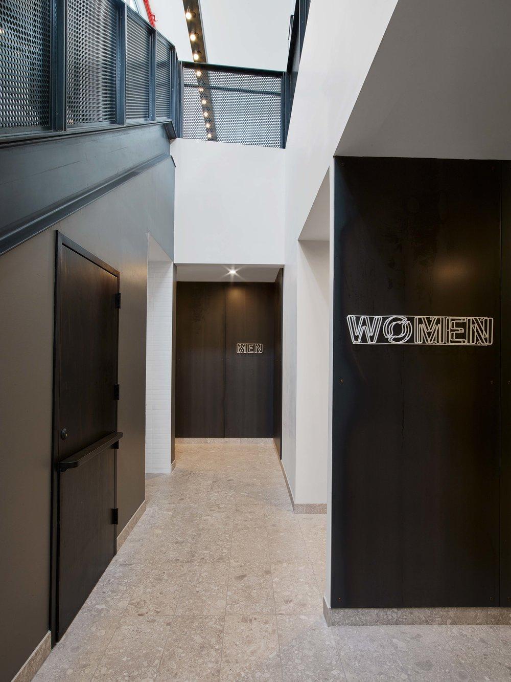 Equinox Williamsburg Locker Room Entrances and Stair