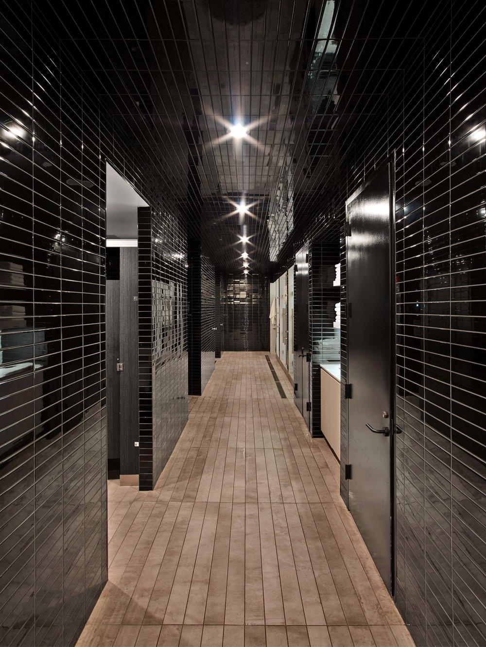 Equinox Williamsburg Locker Room Shower Area