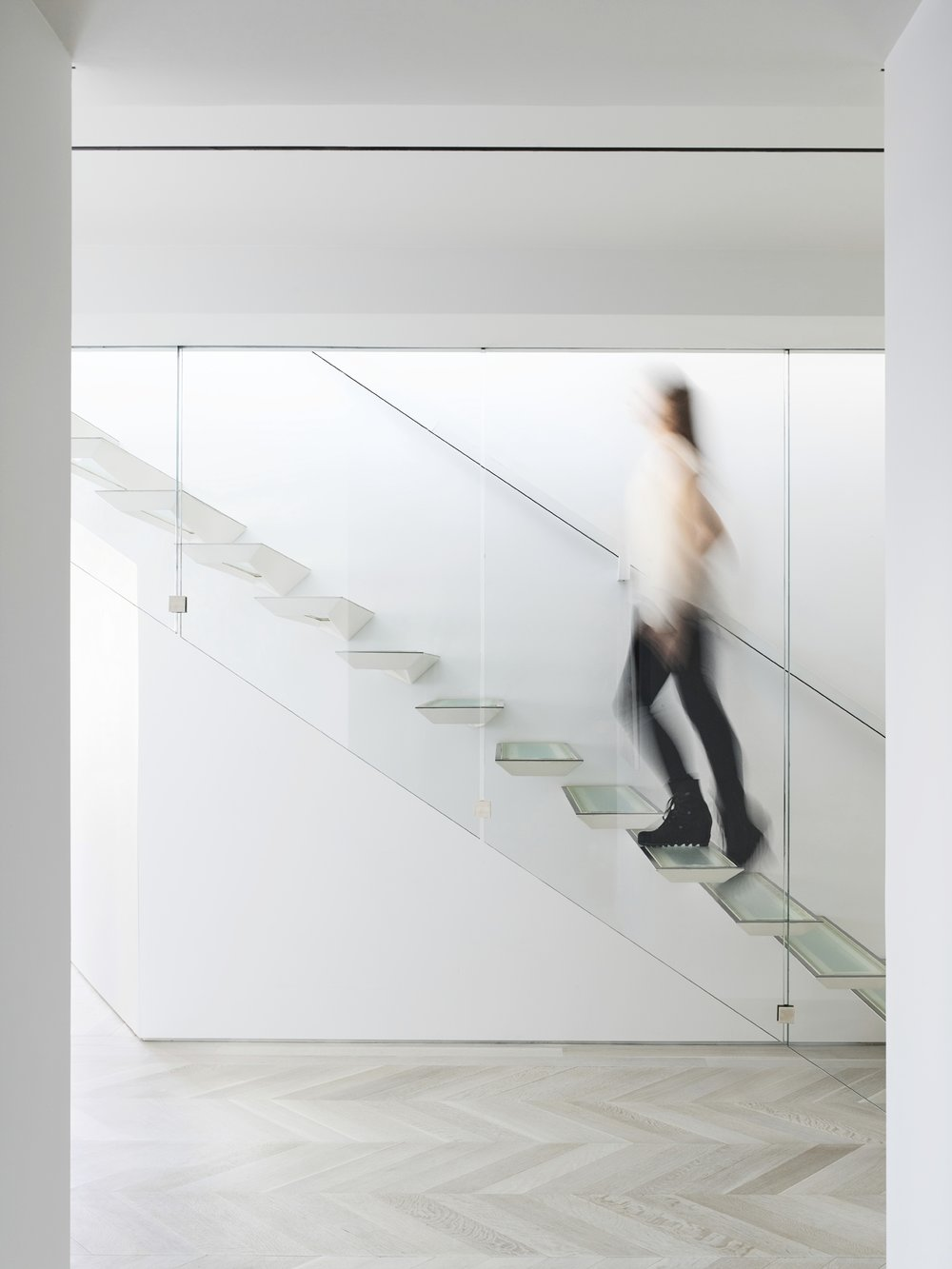 CPW Apartment Stair Side with Person