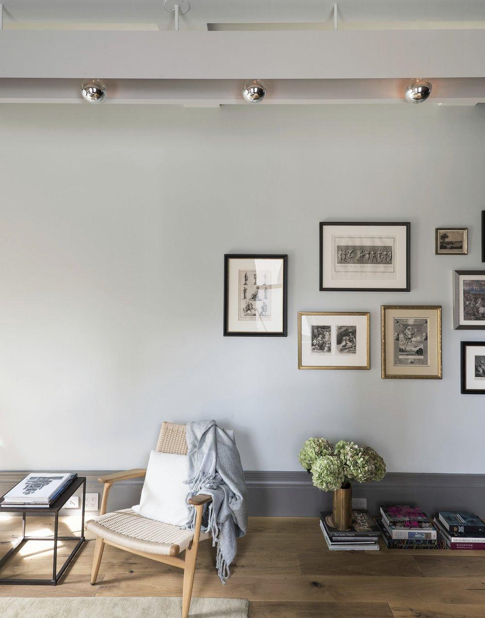 12th Street Loft Living Room Gallery Wall