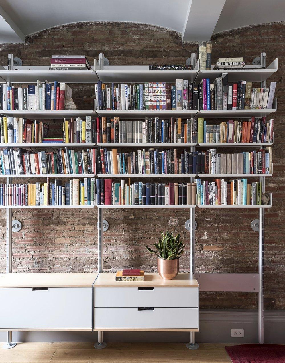 12th Street Loft Master Bedroom Bookshelf