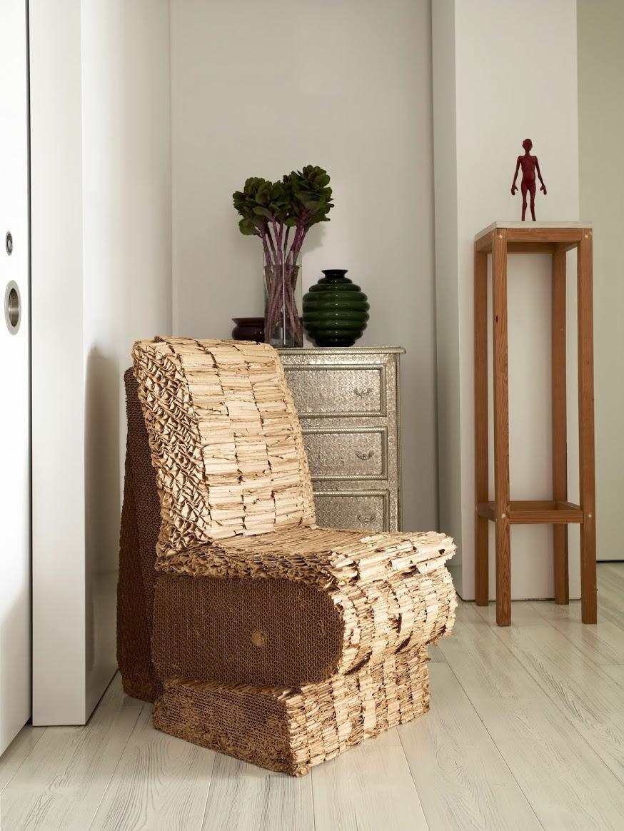Warren Apartment Frank Gehry Cardboard Chair