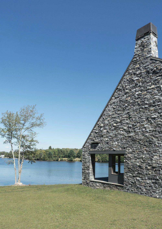 White Lake House Exterior Side and Lake