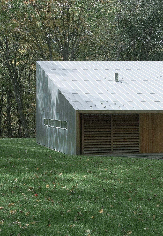 Texas Hill House Exterior Master Bedroom Slats Closed