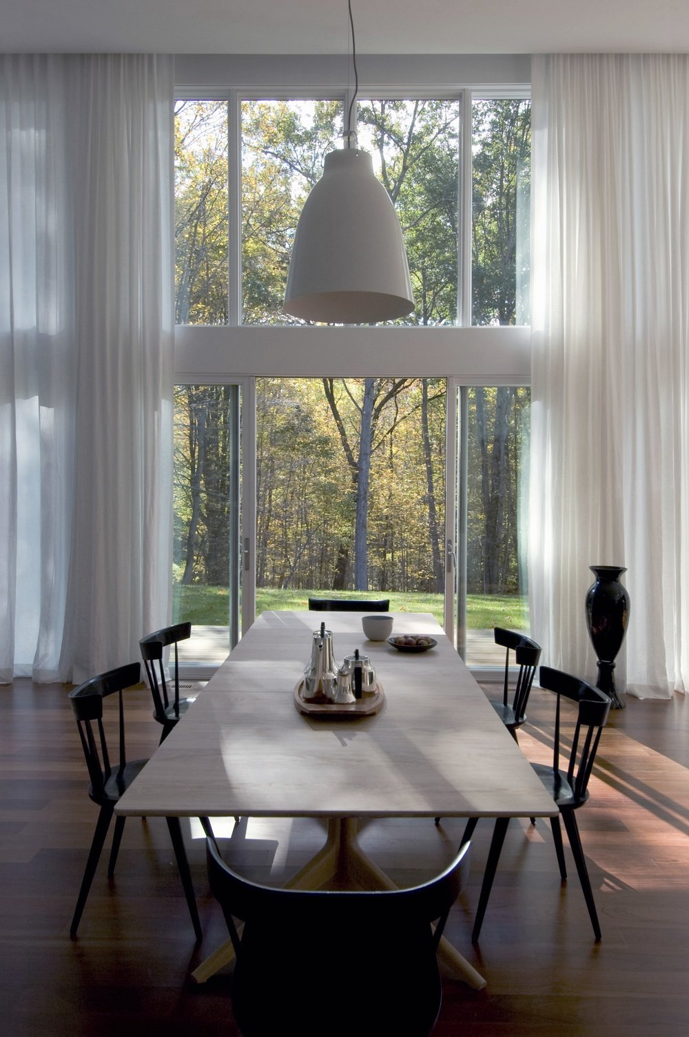 Texas Hill House Dining Table and Window