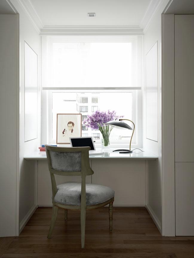 Carnegie Hill Apartment Kitchen Desk