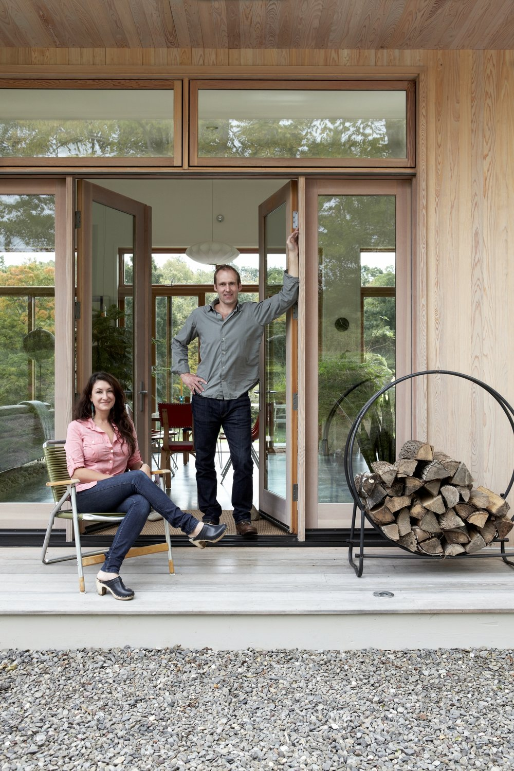 Confluence House Owners on Porch