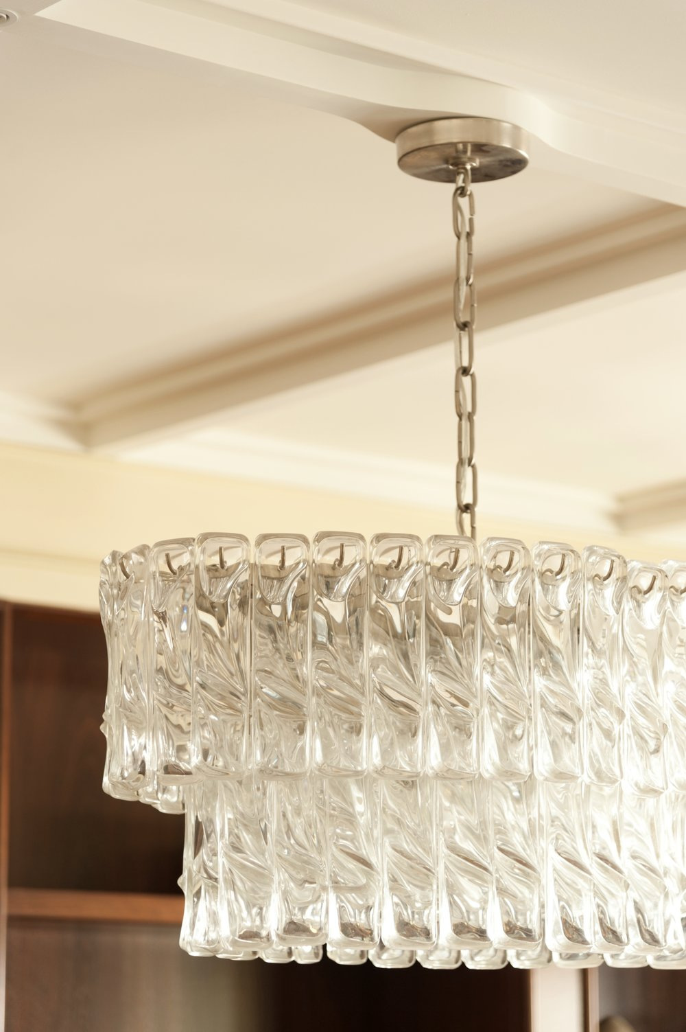 Lincoln Apartment Dining Room Chandelier Detail