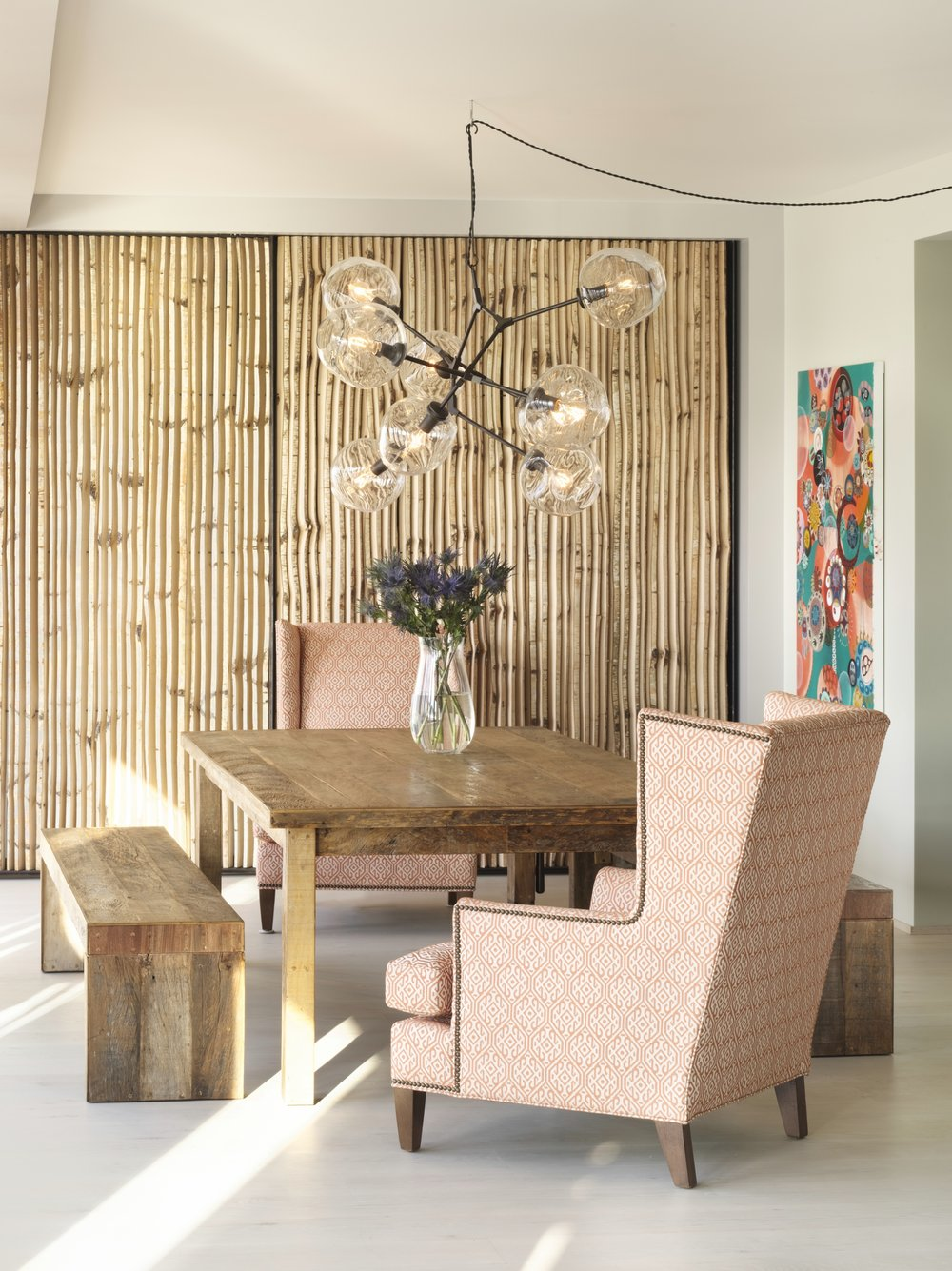 Bohemian Apartment Dining Room and Table